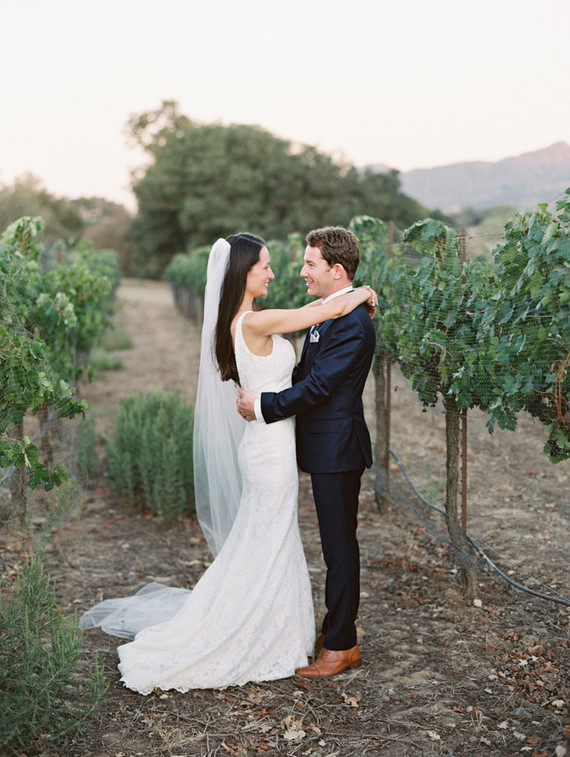 Fall Santa Barbara wine country wedding portrait