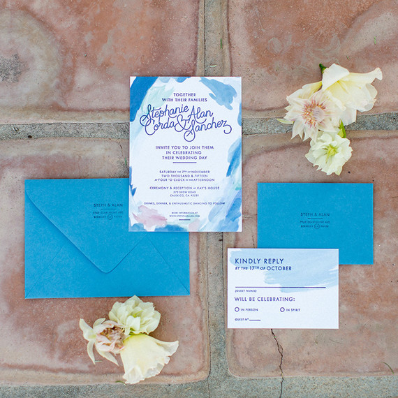 California desert wedding invitaiton suite