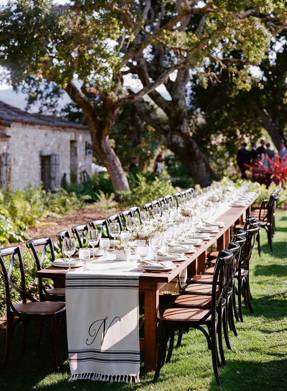 Casual modern wedding tablescape