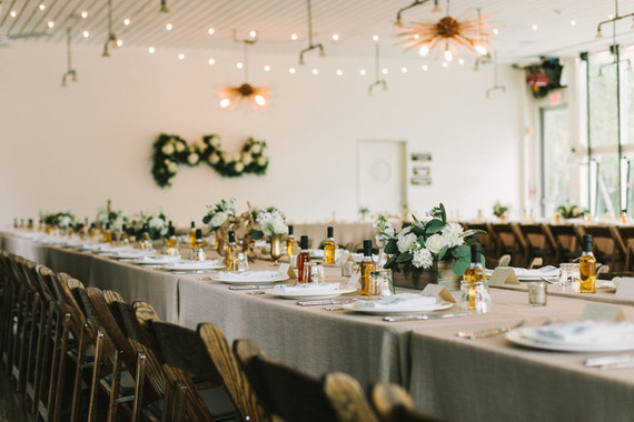 Modern desert wedding reception