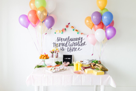 Bunny themed birthday party | ...