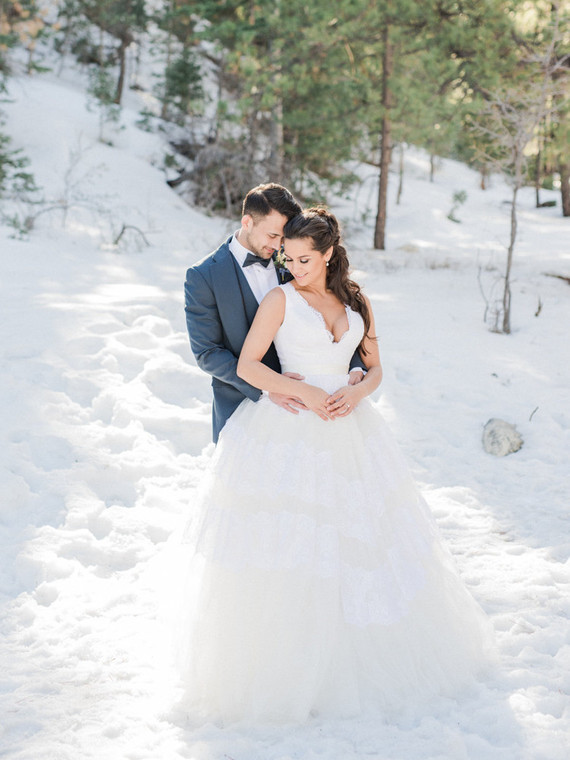 Wintery blues wedding inspiration
