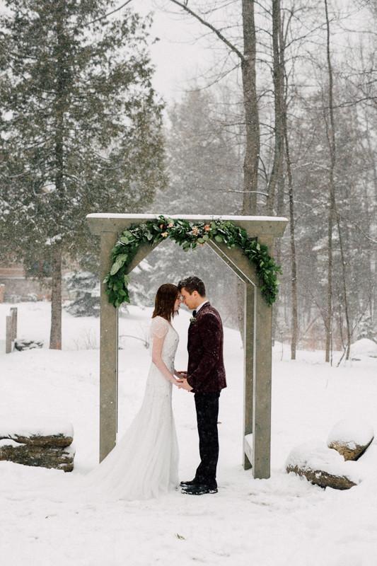 Vintage winter wedding inspiration