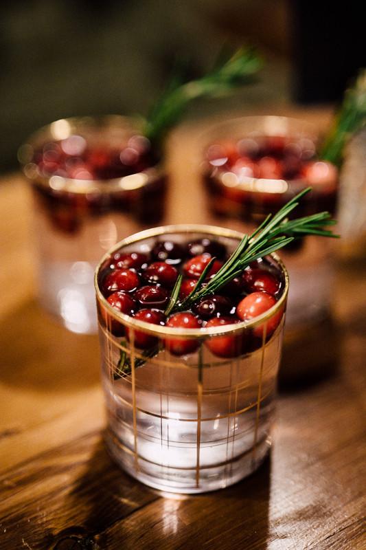 Winter wedding cocktail