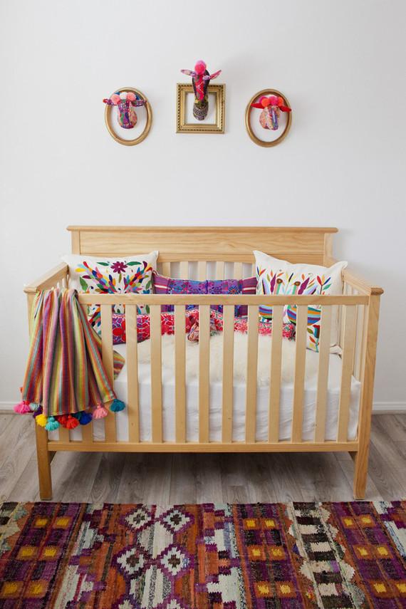 Modern folk art nursery design
