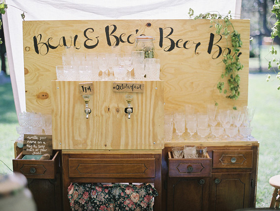 Beer cocktail station