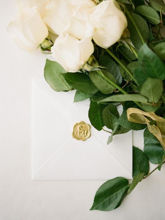 Elegant wedding envelope