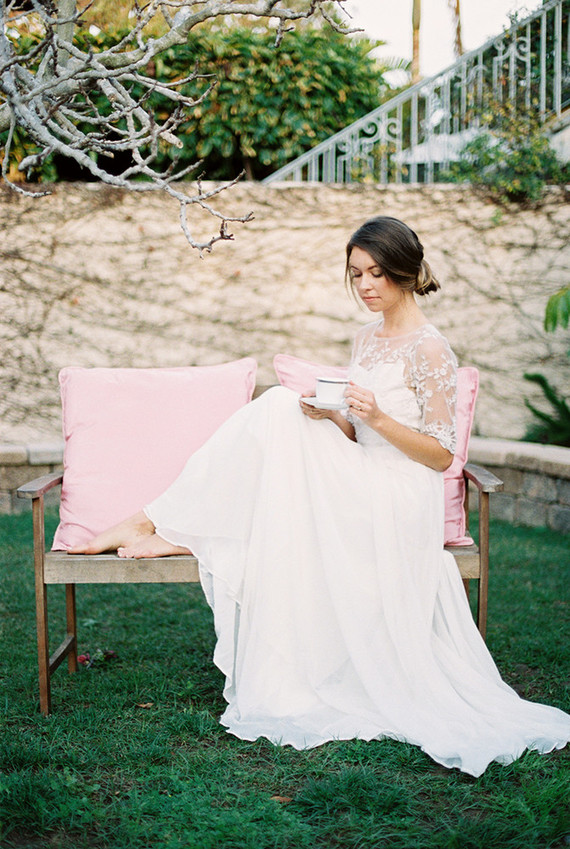 Garden tea party wedding inspiration