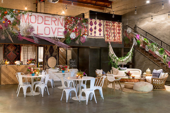 Bohemian party decor
