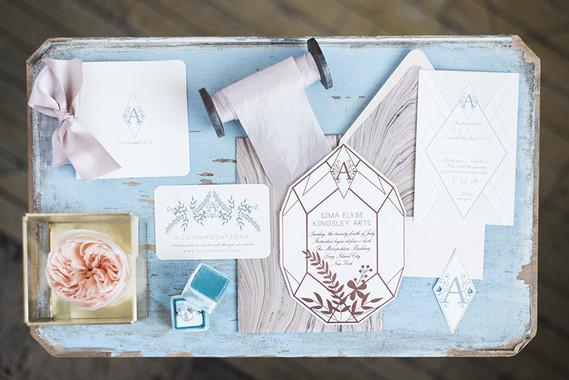 Vintage blue wedding inspiration