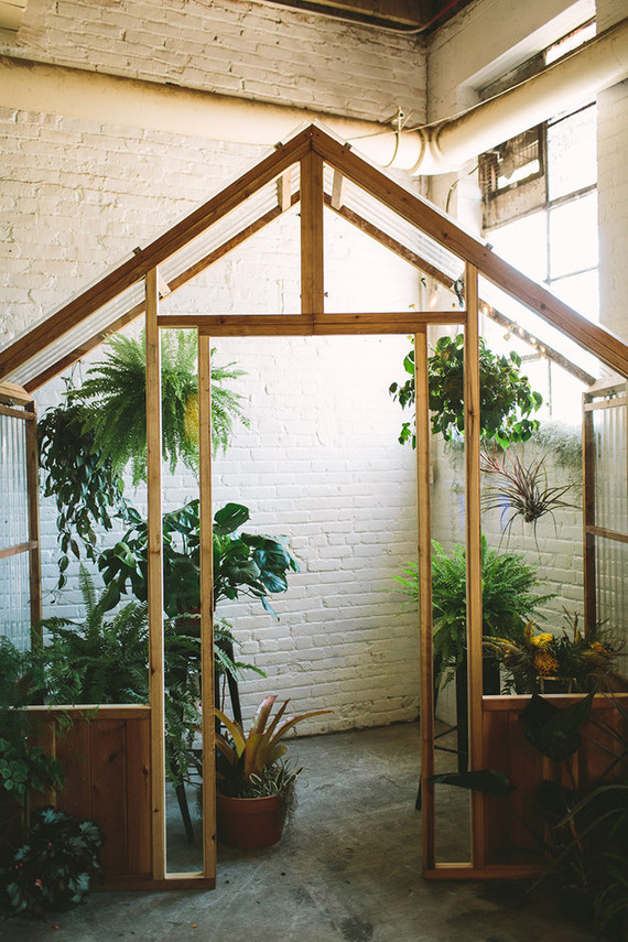 DIY Greenhouse wedding