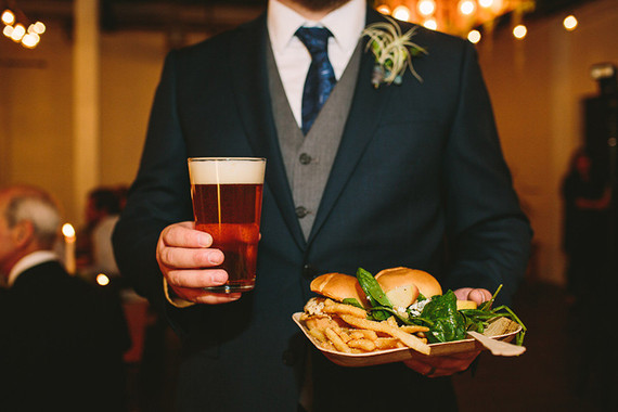 Casual wedding food