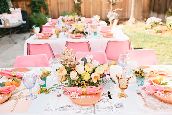 Tropical Bridal Shower: Tropical Southern California Bridal Shower
