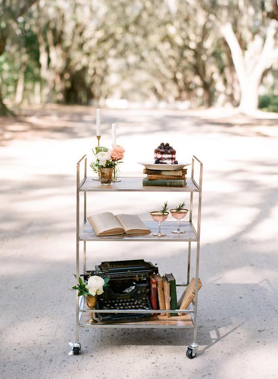 Vintage dessert cart