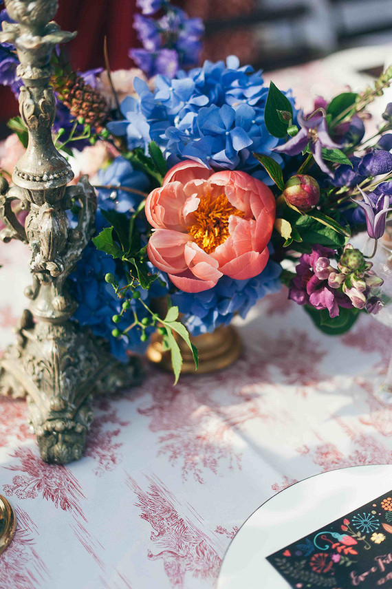 Colorful eclectic Italian wedding