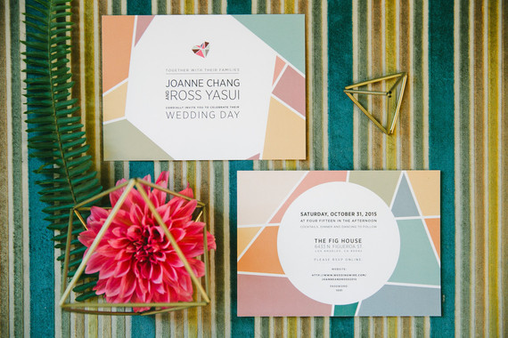 Colorful geometric invitation