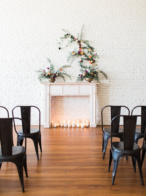 Industrial modern ceremony decor