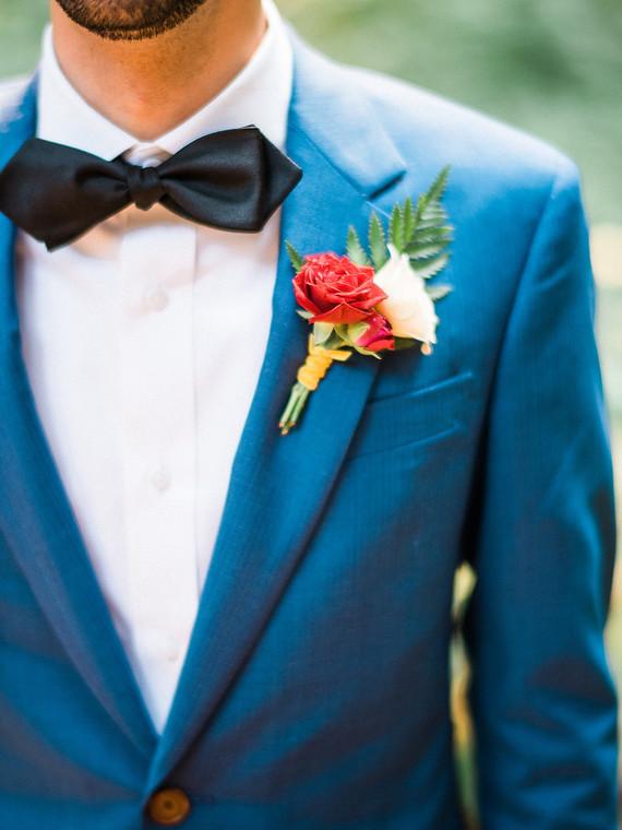 Blue grooms suit