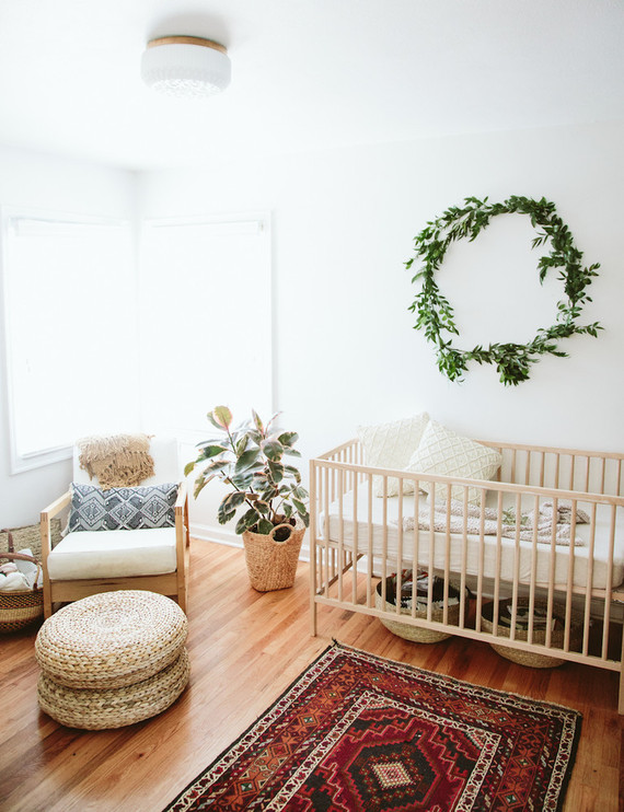 Natural bohemian nursery nursery decor ideas 100 layer for Minimalist living with children