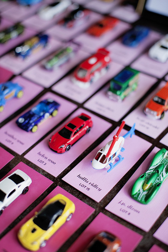 Toy car escort cards