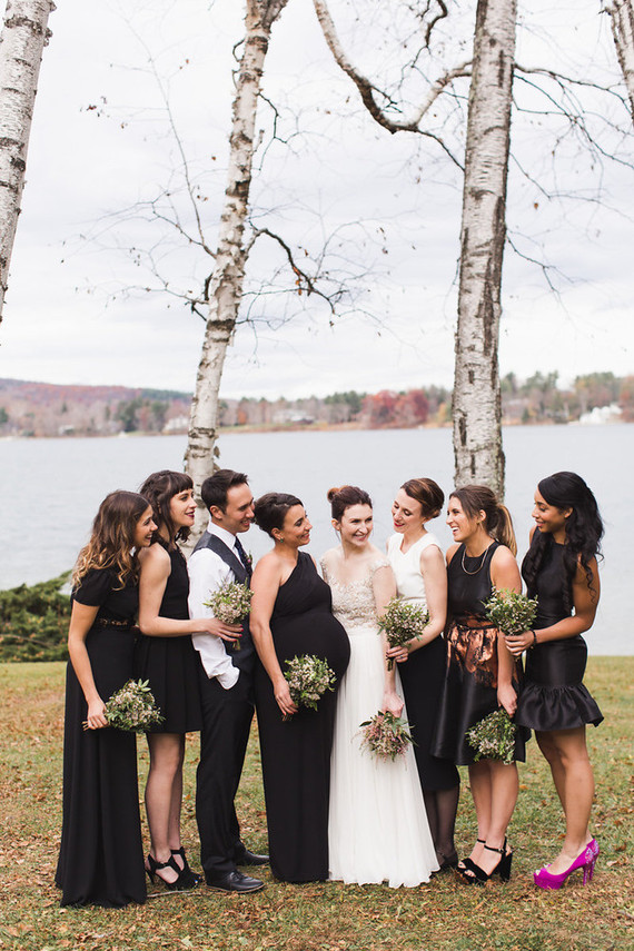 Black bridesmaid dresses