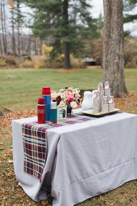 Fall woodland wedding