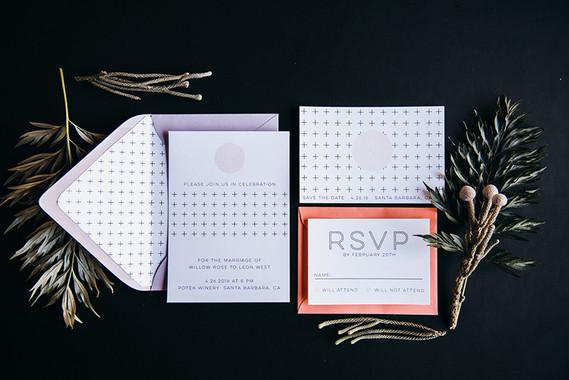Modern wedding invitations