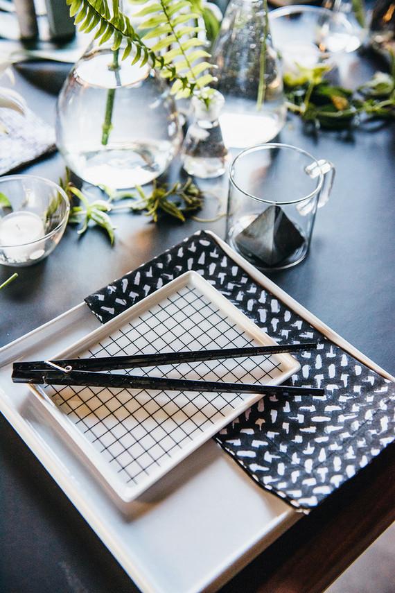 Modern black and white wedding inspiration