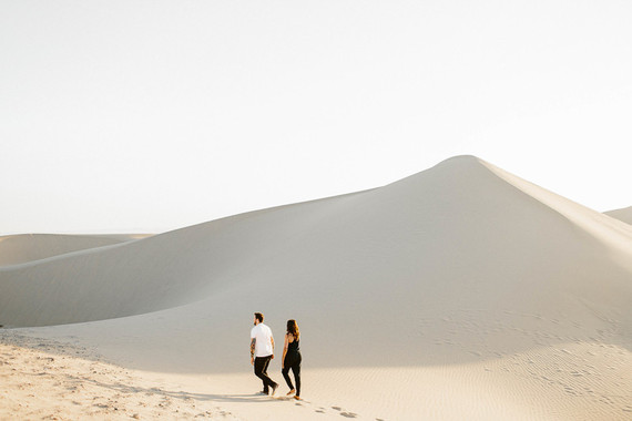 Desert engagement shoot at Algodones Sand Dunes