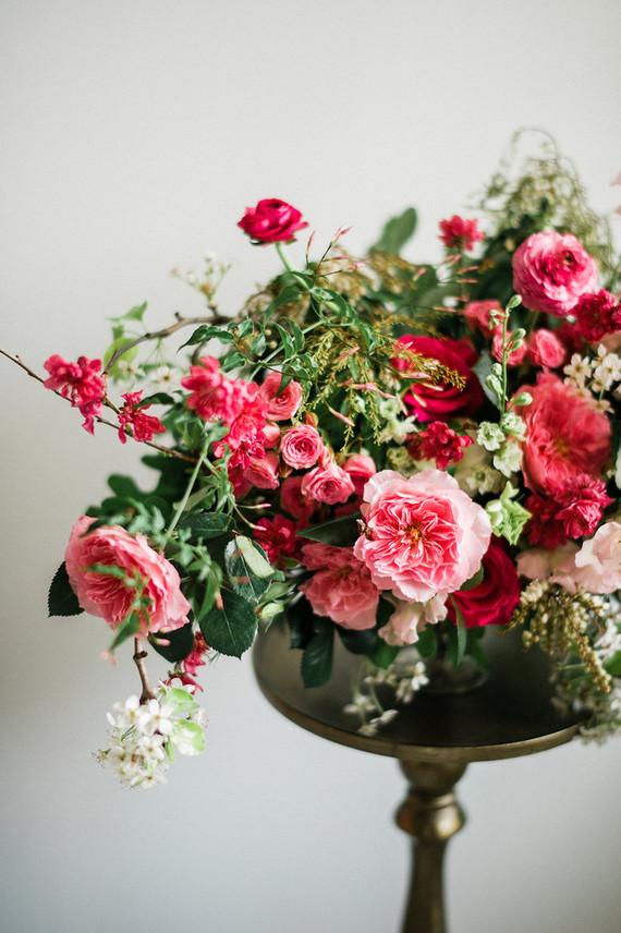 Bright pink florals