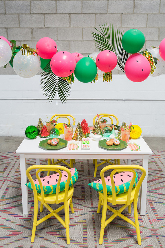 Watermelon 1st birthday party Watermelon party 100 Layer Cakelet