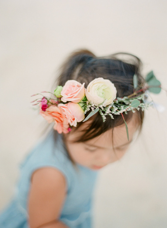Little girls with flower crowns