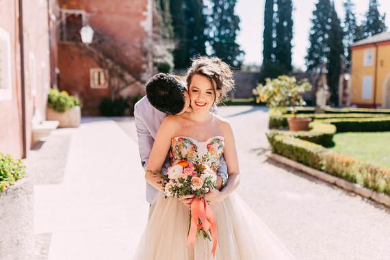 David Fielden wedding gown