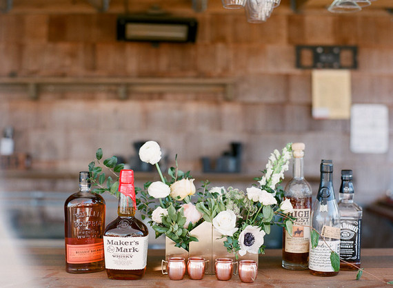 Rustic cocktail bar
