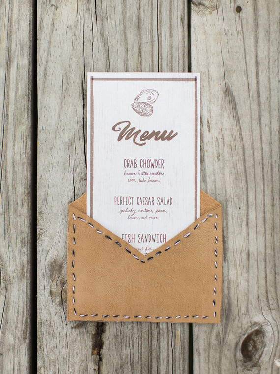 Rustic menu design