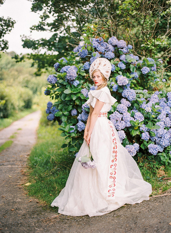 UK Elopement Unique Wedding Dress 100 Layer Cake
