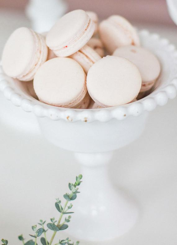 blush macarons