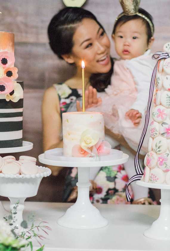 Floral 1st Birthday Korean Dol First Birthday Party 100 Layer