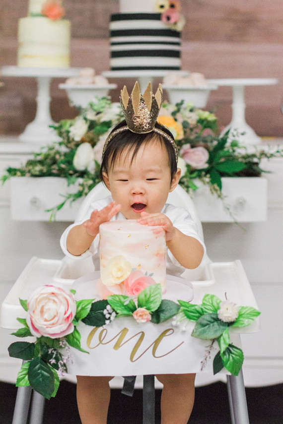 Floral Korean Dol first birthday