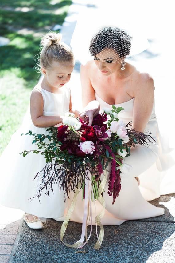 Burgandy bridal bouquet
