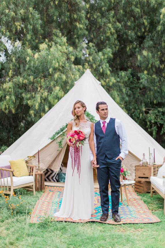 Bohemian tent lounge