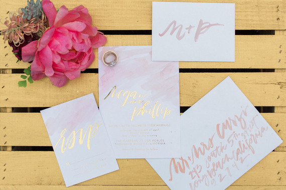Gold foil calligraphy
