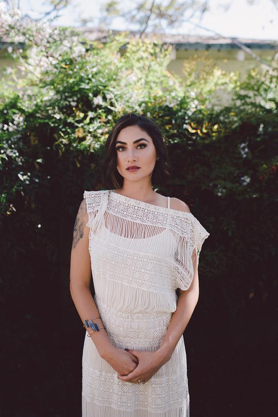 Bohemian knit wedding dress
