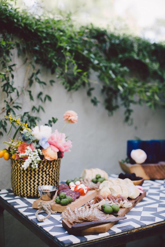 Bohemian modern wedding decor