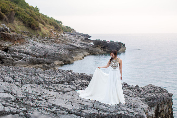 Coastal Italy elopement