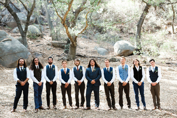 Rustic wedding groomsmen