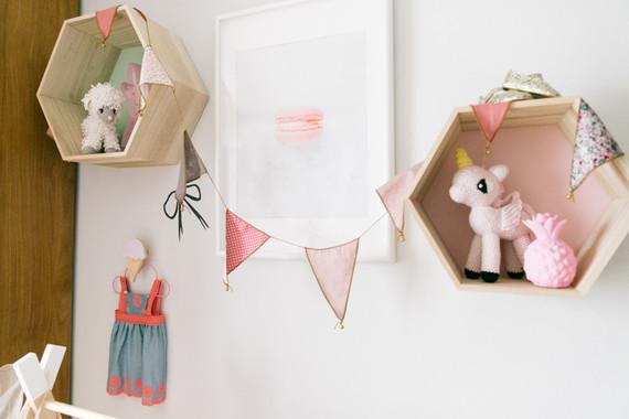 Feminine modern girl nursery