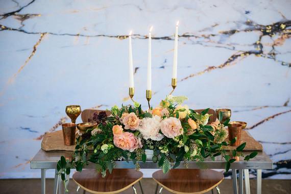 Marble wedding backdrop