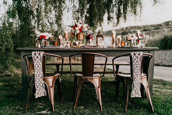 Bohiemian fall wedding inspiration