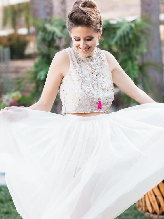 Sarah Seven wedding skirt